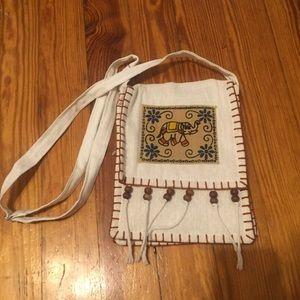 NWOT Boho Elephant fringe bag w/ adjustable strap